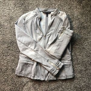 White House Black Market Moto Jacket - Grey - Sz 8